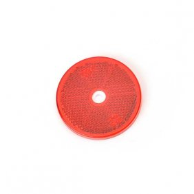 SWEDSTUFF Reflex Red rund 60mm med hål 4-pack