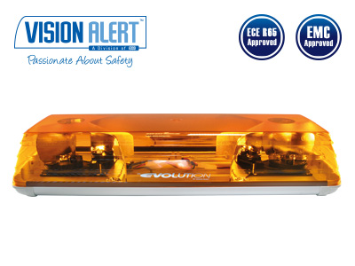 Varningsljusramp 24v Halogen Visionalert 570mm orange